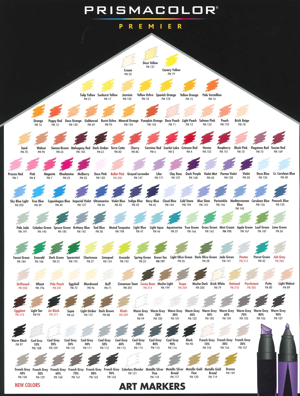 View Color Charts Du All Art Amp Drafting Supply