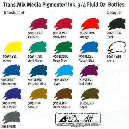 Drawing Ink Trans Mix Media Cyan 0.75oz – Additional Image #1