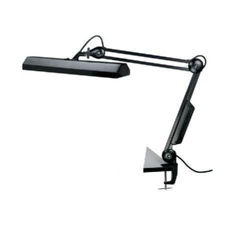 Fluorescent Swing Arm Lamp Clamp On Black Du All Art