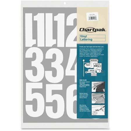 Vinyl Numbers 2 Quot White Du All Art Amp Drafting Supply