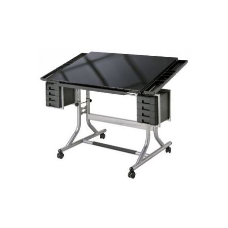 Craftmaster Ii Glass Top Deluxe Art Amp Drawing Table Du