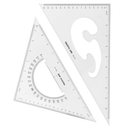 Pacific Arc Triangles 12 Quot Set Of 2 Du All Art Amp Drafting