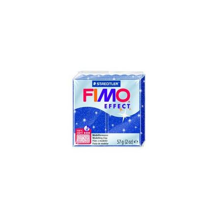 Fimo Clay Effect 57g Box of 6 Glitter Blue