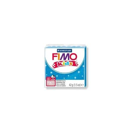 FIMO Kids Modeling Clay Box of 8 Glitter Blue