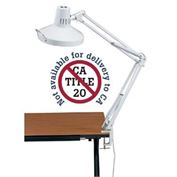 Combination Lamp Clamp-On White