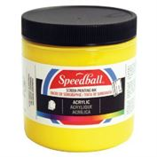 Screen Printing Ink Permanent Acrylic Yellow 8 oz