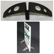 "Spider Feet Stand-Ups 1/4 "" Display Stand Black 6"" wide"
