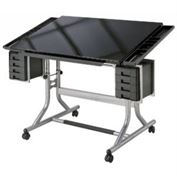 CraftMaster II™ Glass Top Deluxe Art & Drawing Table