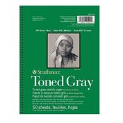 "Strathmore Sketch Pad 50 Sheets Toned Gray Wire Bound 9""X12"" 80lb"