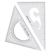 "Triangle Clear 8"" Set of 2"