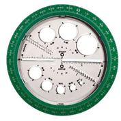 "Protractor Angle and Circle Maker 5 3/"" diameter"