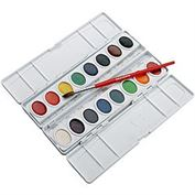 Watercolor Oval Set of 16