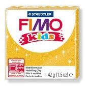 FIMO Kids Modelling Clay Box of 8 Glitter Gold