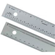 "Alumicolor 12"" Aluminum Ruler: inches, centimeters, pica, points"